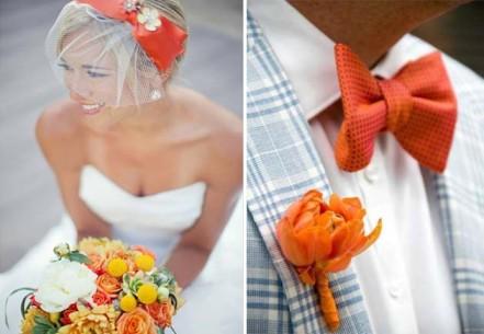 Фотография Свадьба в оранжевом стиле: для тех, кто умеет креативить