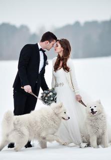 Зимняя свадебная обувь