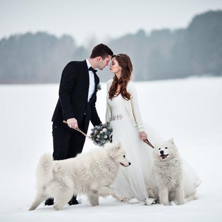Фотография Свадебная обувь для зимней церемонии