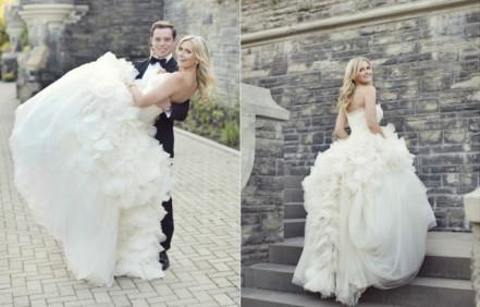Тренд сезона 2017: многослойные свадебные платья