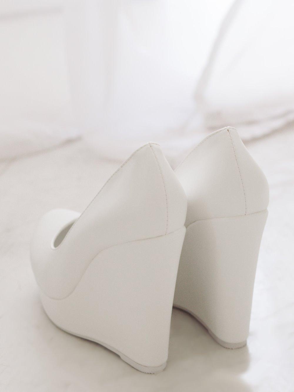 Туфли свадебные гладкие на платформе 2