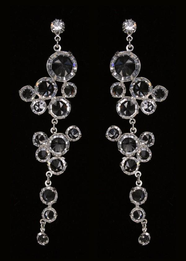 Длинные серьги с кристаллами 1