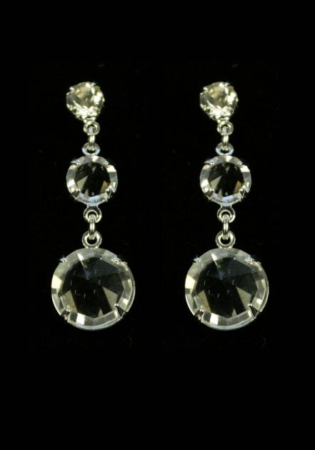 Серьги из трех кристаллов