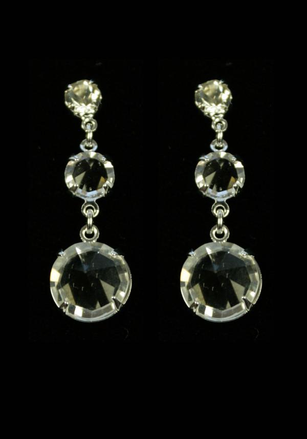 Серьги из трех кристаллов 1