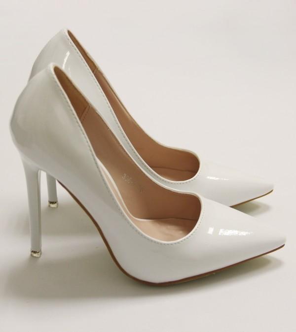 Туфли лодочки белые 1