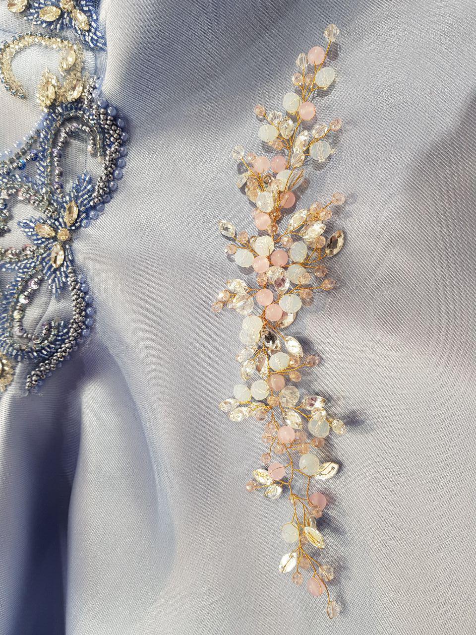 Фотография Веточка Gold 7 розовый с голубым