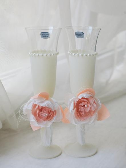 Набор бокалов пионовая свадьба