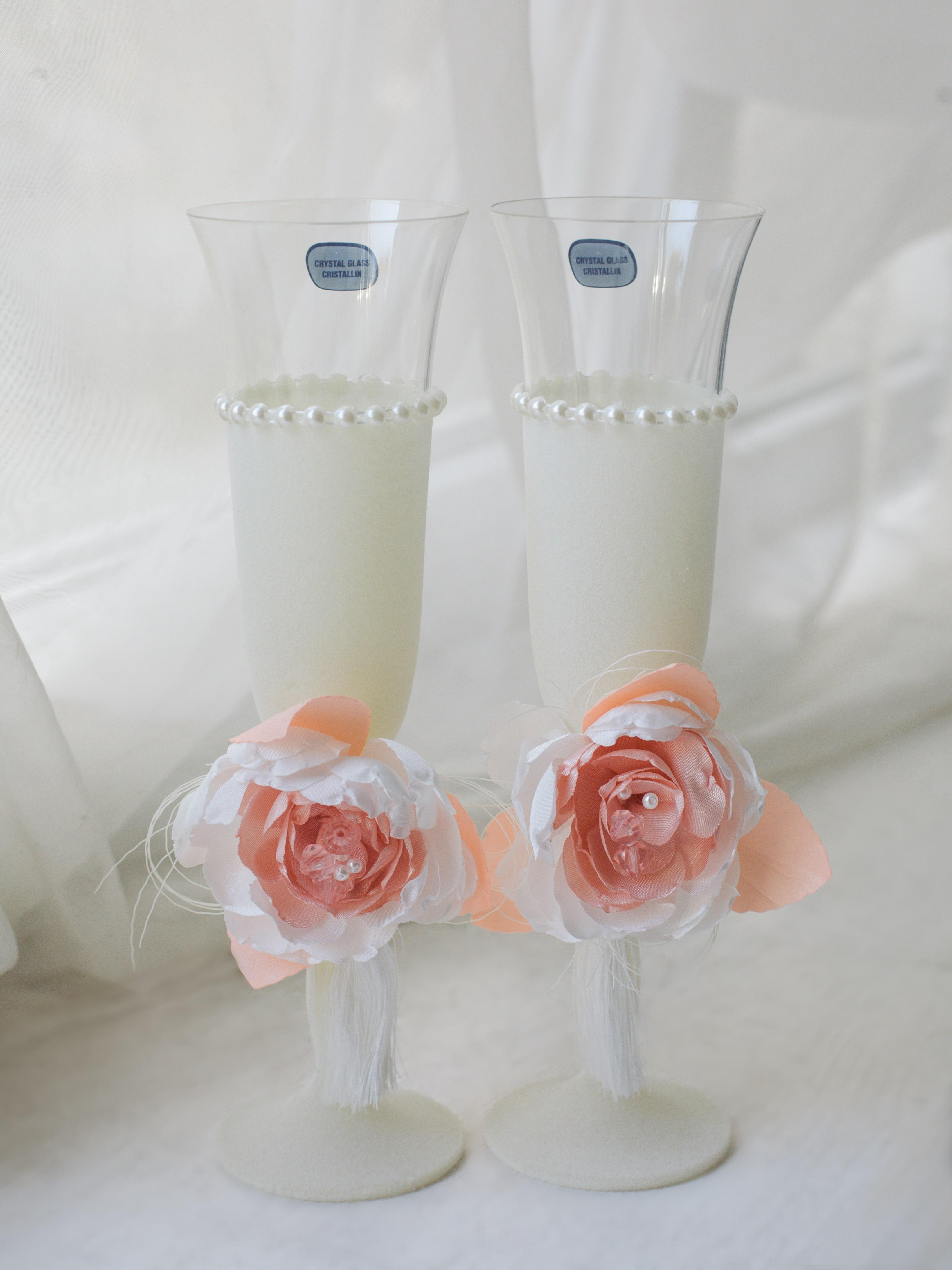 Фотография Набор бокалов пионовая свадьба