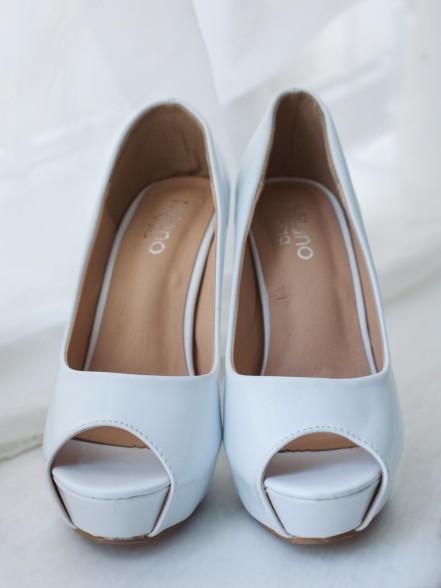 Туфли гладкие открытый мыс