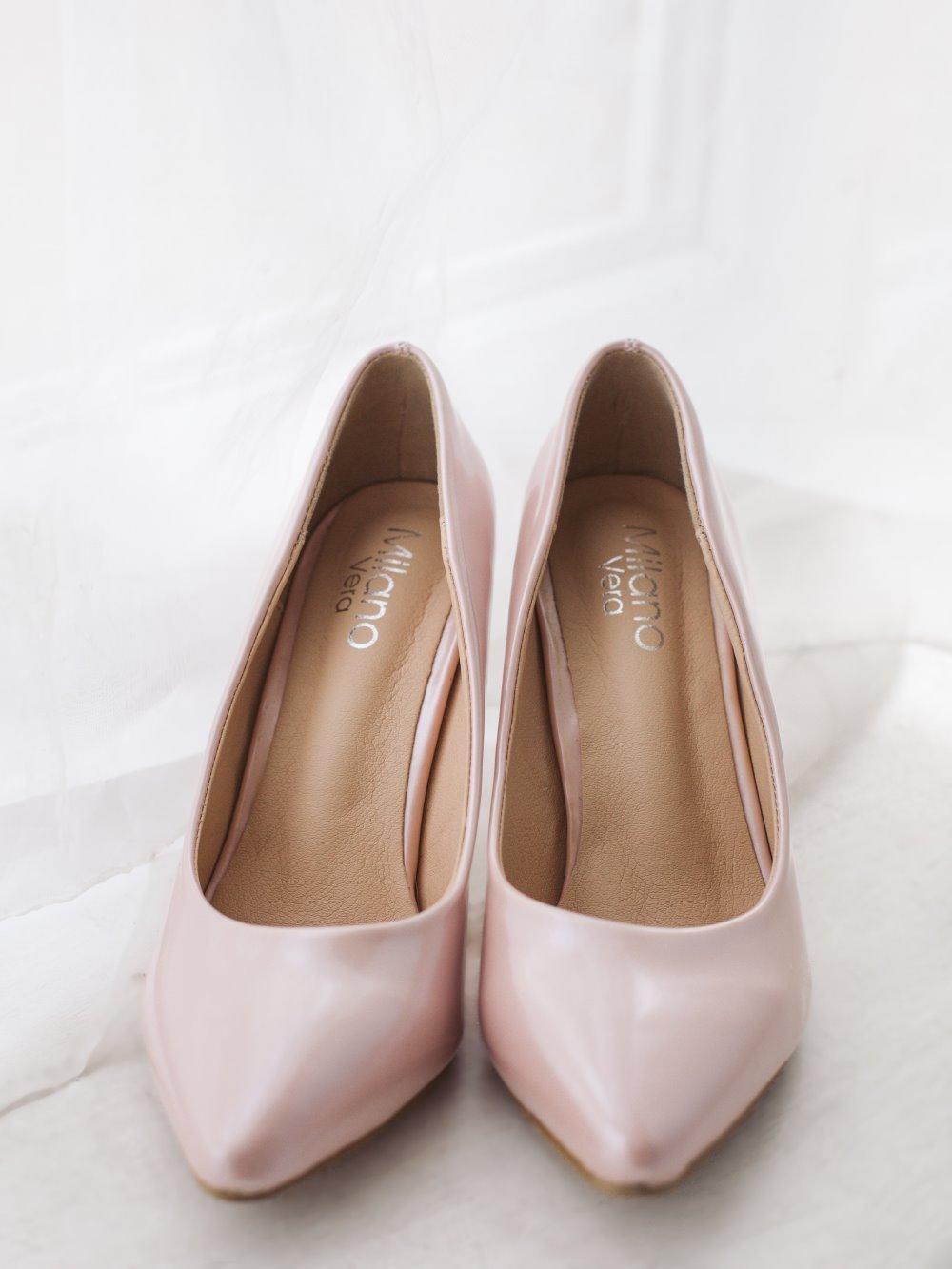 Туфли гладкие розовые 1