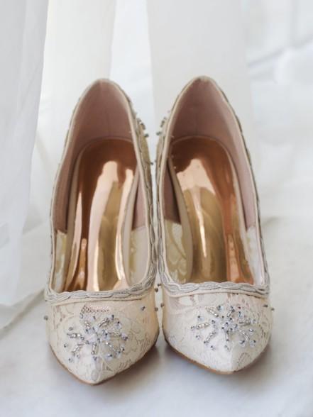 Туфли лодочки кружево