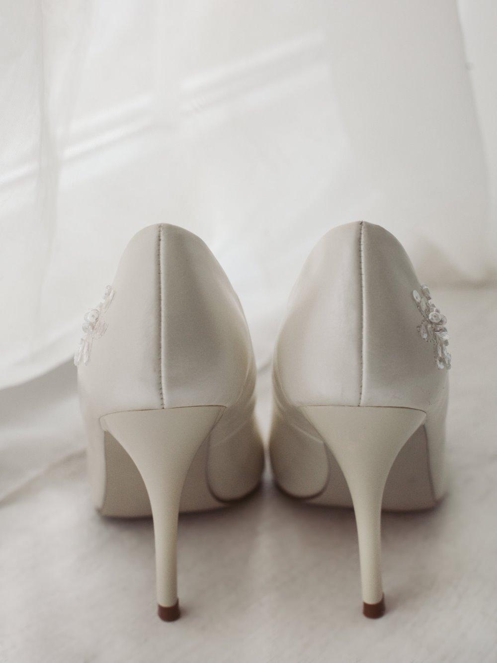 Туфли свадебные гладкие 2