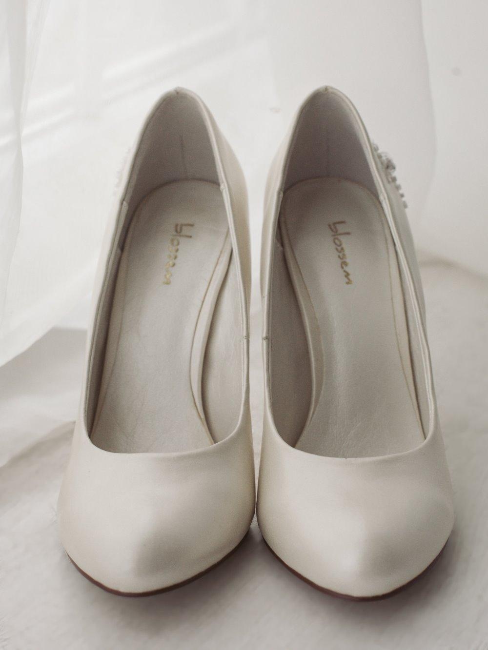 Туфли свадебные гладкие 1