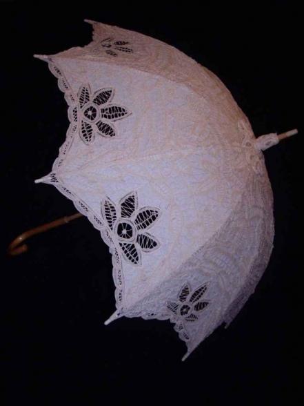 Фотография Зонт кружевной трость