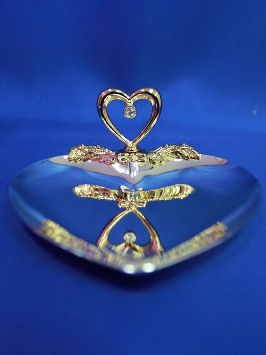 Блюдце для колец из металла «Сердце» 1