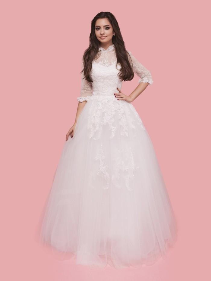 Кружевные свадебные платья с рукавами
