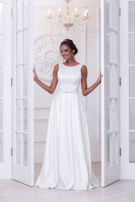 Свадебное платье Нина атлас складки